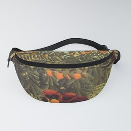 Apes in the Orange Grove by Henri Rousseau 1910 // Colorful Jungle Animal Landscape Scene Fanny Pack