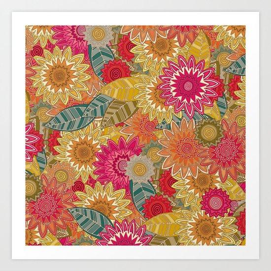 sunshine garden Art Print