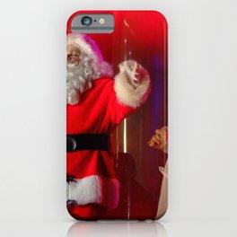 Holiday Christmas Santa Kris Kringle iPhone Case
