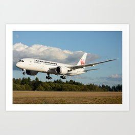 Japan Airlines Boeing 787 Art Print