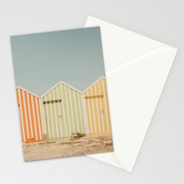 Summer Beach Huts Stationery Cards