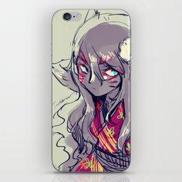 Fox girl sketch iPhone Skin