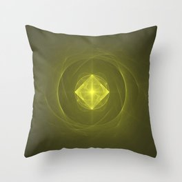 Gazing into the Eye of the Pyramid Throw Pillow