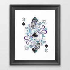3 of Spade Framed Art Print