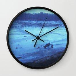 River Wash Wall Clock