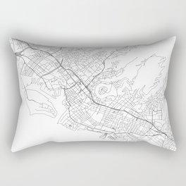Honolulu White Map Rectangular Pillow