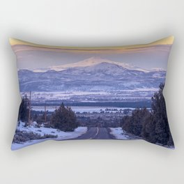Pacific Northwest Sunset Over Cascades Rectangular Pillow