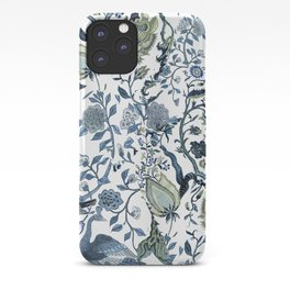 Blue vintage chinoiserie flora iPhone Case