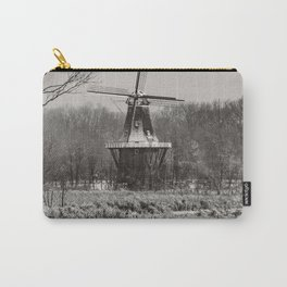 Holland, Michigan Windmill - Black and White Carry-All Pouch