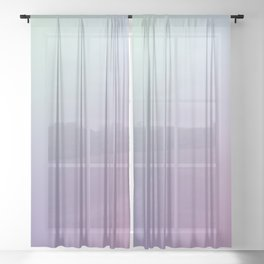 SLEEPYHEAD - Minimal Plain Soft Mood Color Blend Prints Sheer Curtain