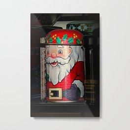 An Aside Glance Santa Metal Print