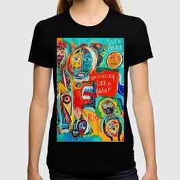 I'm hungry like a wolf Street Art Graffiti T-shirt