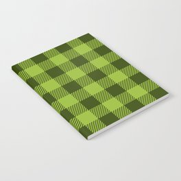 Buffalo Plaid: Green Notebook