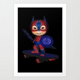The Masked Avenger .. fantasy art  Art Print