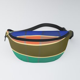 Minimal Colorful Stripes Rainbow Fanny Pack