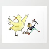 Run Away Art Print