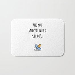 Oops Its a boy, funny pregnancy announcement Bath Mat
