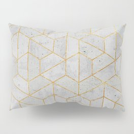 Concrete Hexagonal Pattern Pillow Sham