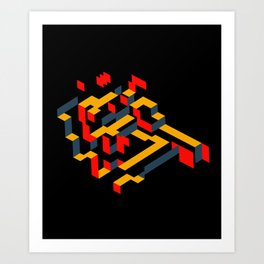 Slide beauty Art Print
