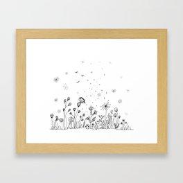Floral Garden Doodle Art Framed Art Print