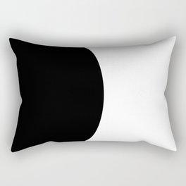 One - a minimal, simple circle abstract Rectangular Pillow