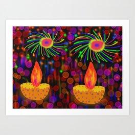 Happy Diwali Art Print
