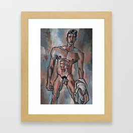 Boy from the River Framed Art Print
