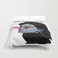 hepburn Duvet Covers featuring A. Hepburn by philip painter