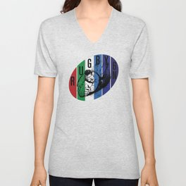Rugby Six Nations Art by PPereyra Unisex V-Neck