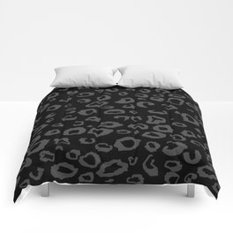 Black and Gray Leopard Comforters