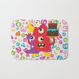 Birthday Monster 1st Birthday Bath Mat