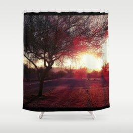 Glaring at the Park Shower Curtain