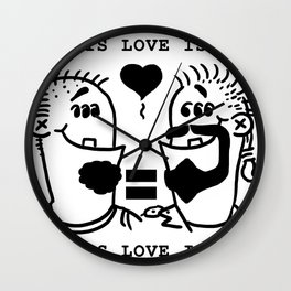 Equali-Tees: Man's Men Wall Clock