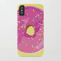 donut iPhone & iPod Cases featuring donut by Britt Mansouri