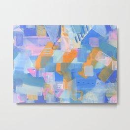 Geometric abstract in pastel Metal Print