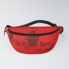 University of Tampa -- Black and Red Fanny Pack