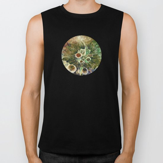 Fractal Bouquet - color variation Biker Tank
