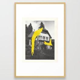 Smoking House Framed Art Print