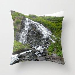 Alaska Waterfall Throw Pillow