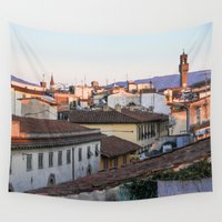 florence Wall Tapestries featuring Florence Sunset by Chrissy Gensch
