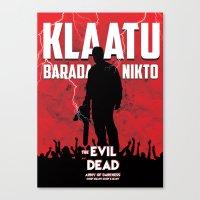 evil dead Canvas Prints featuring Evil Dead by Constantine Vintage Poster Design