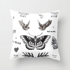 Tattoo à la Harry Throw Pillow