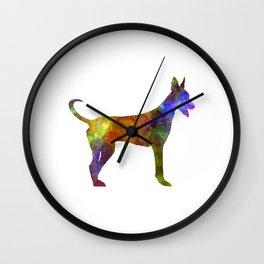 Canarian Warren Hound in watercolor Wall Clock
