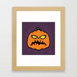 Pumpkin Zombie Framed Art Print