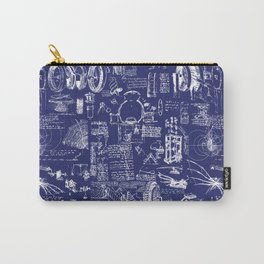 Da Vinci's Sketchbook // Dark Blue Carry-All Pouch