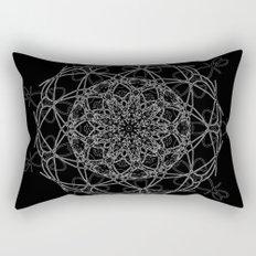 mandala in black Rectangular Pillow
