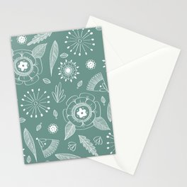 Flora Pattern II Light on Dark Stationery Cards