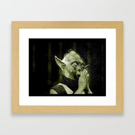The DalaiYOda Framed Art Print