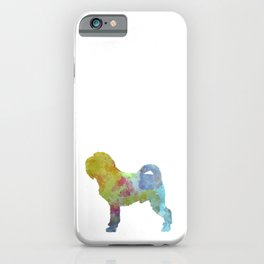 Griffon Belge in watercolor iPhone Case