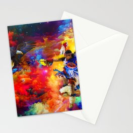 Dance with eagle Stationery Cards